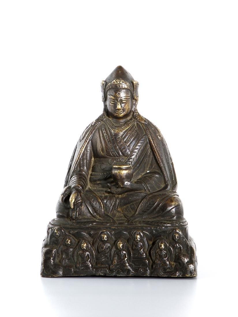 Chinese Gilt-Bronze Figure of Medicine Buddha