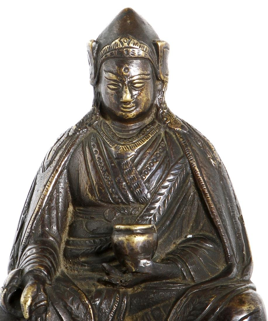 Chinese Gilt-Bronze Figure of Medicine Buddha - 2