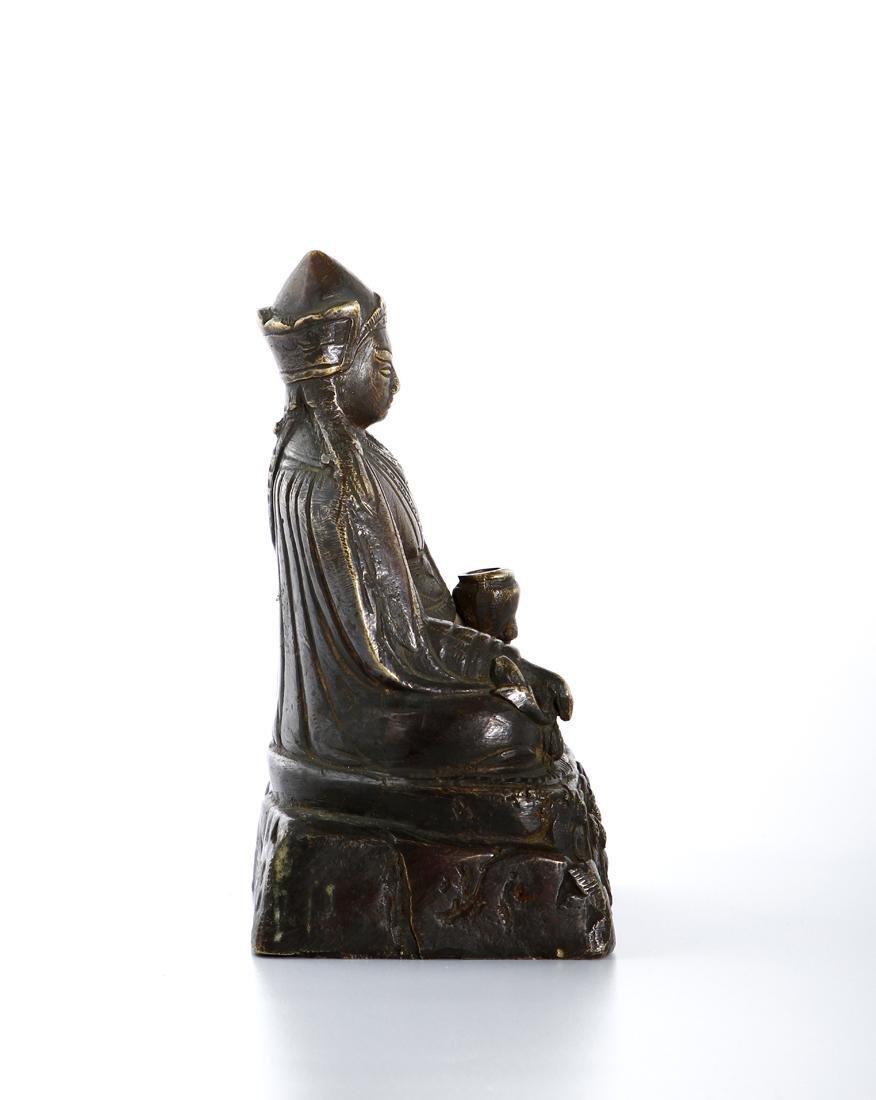 Chinese Gilt-Bronze Figure of Medicine Buddha - 3