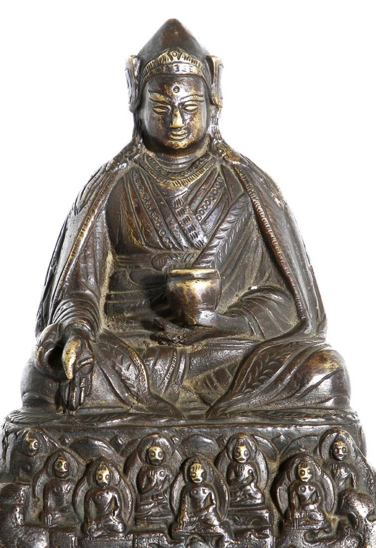 Chinese Gilt-Bronze Figure of Medicine Buddha - 8