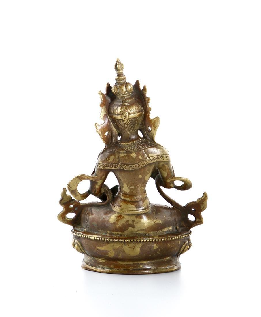 Chinese Gilt Bronze Figure of Buddha - 3