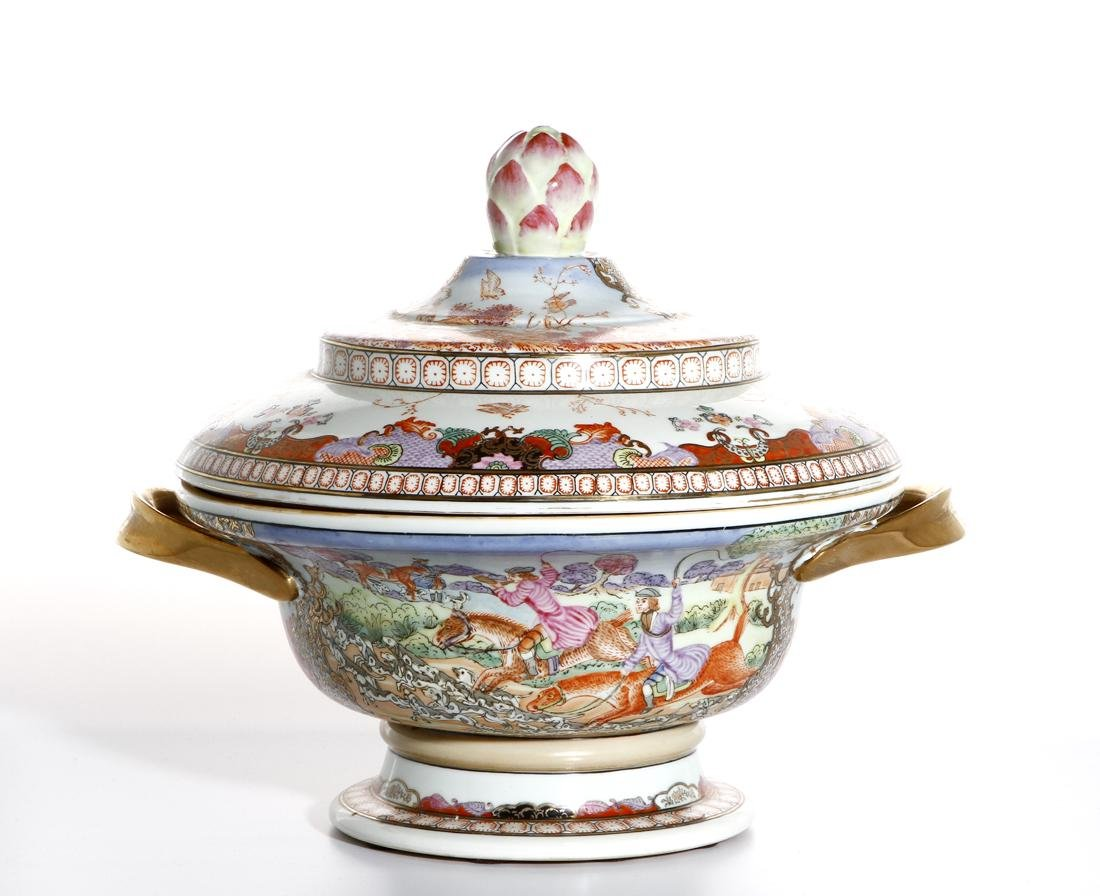 Chinese Rare Export Rose Medallion Bowl and Cover - 3