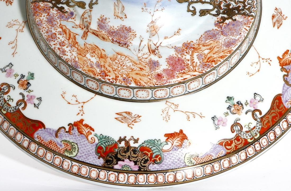 Chinese Rare Export Rose Medallion Bowl and Cover - 4