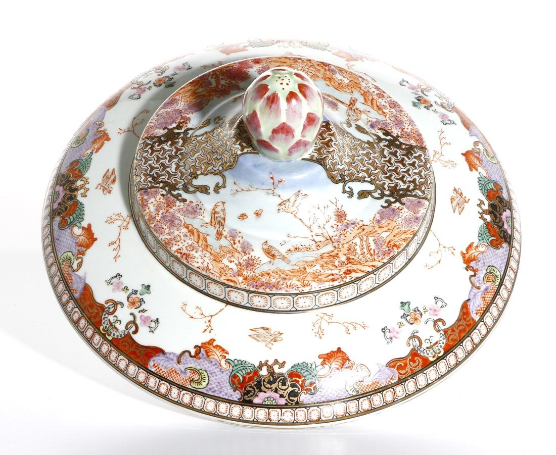 Chinese Rare Export Rose Medallion Bowl and Cover - 5