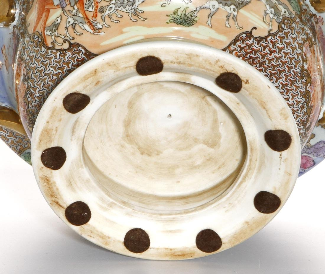 Chinese Rare Export Rose Medallion Bowl and Cover - 9