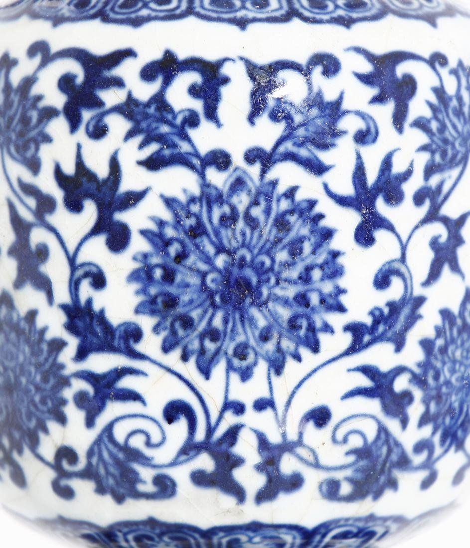 Chinese Blue and White Tripod Censer With Cover - 5