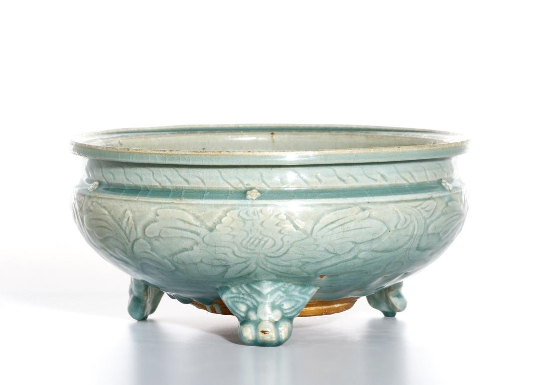 Chinese Ming Longquan Tripod Censer, Christie's