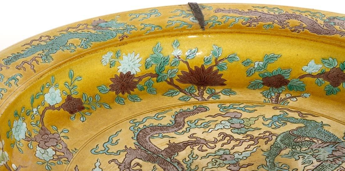 Chinese Yellow Ground Green-Aubergine Charger - 6