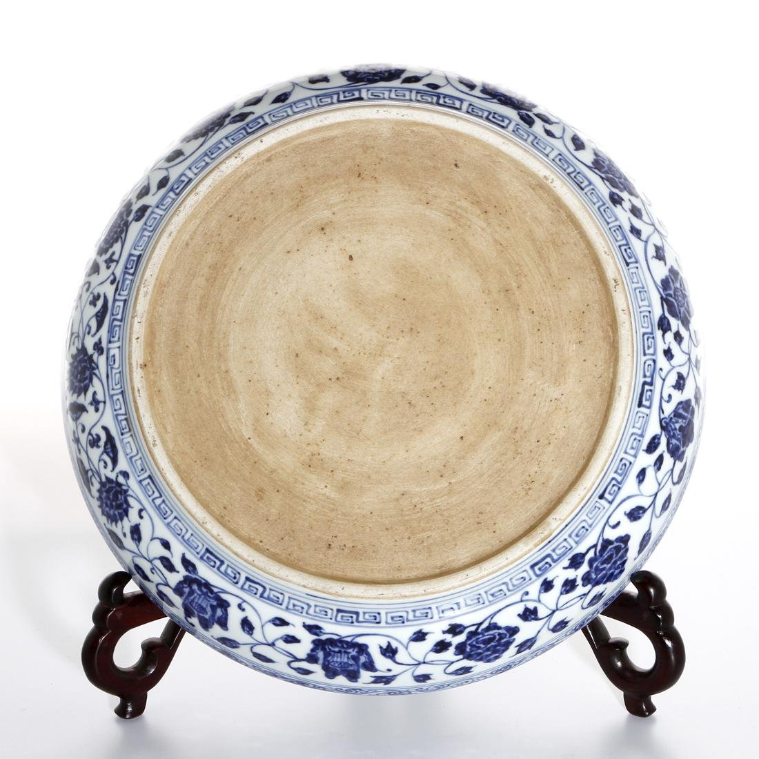 Chinese Blue and White 'Three Friends' Charger - 5