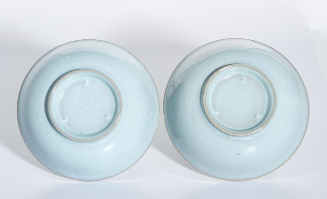 Pair of Chinese Ru Type Bowls - 3