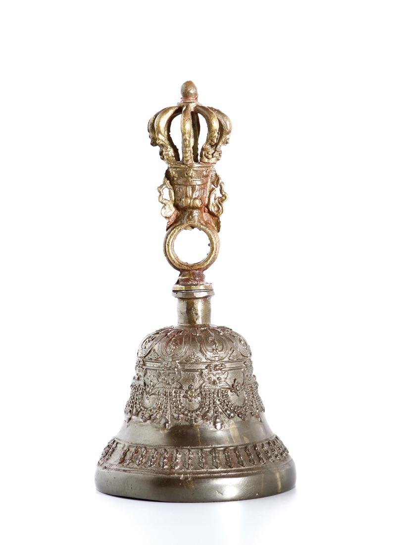Indian Parcel-Gilt Bronze Ceremonial Bell - 2