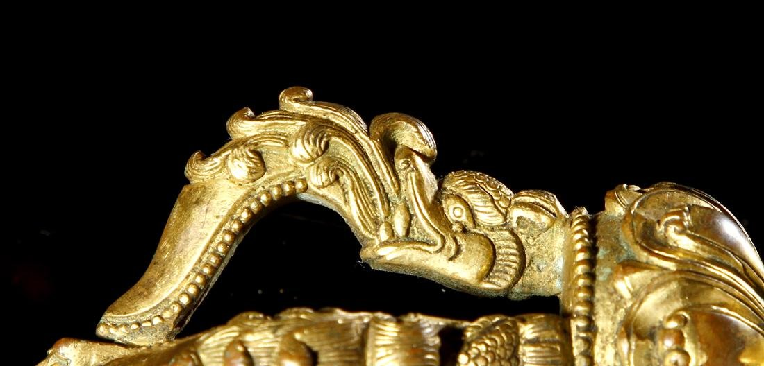 Sino-Tibetan Gilt Bronze Four-Pronged Vajra - 4