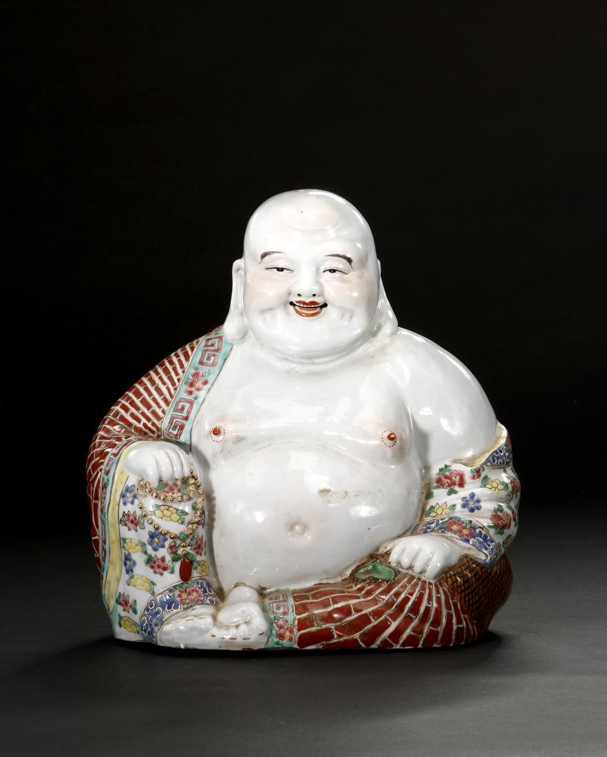 Chinese Famille Rose Figure of Budai