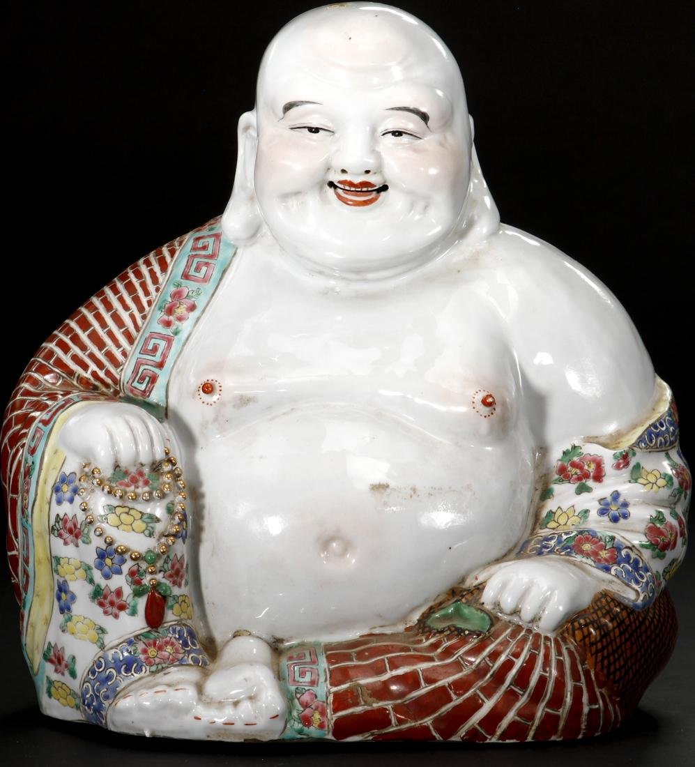 Chinese Famille Rose Figure of Budai - 2