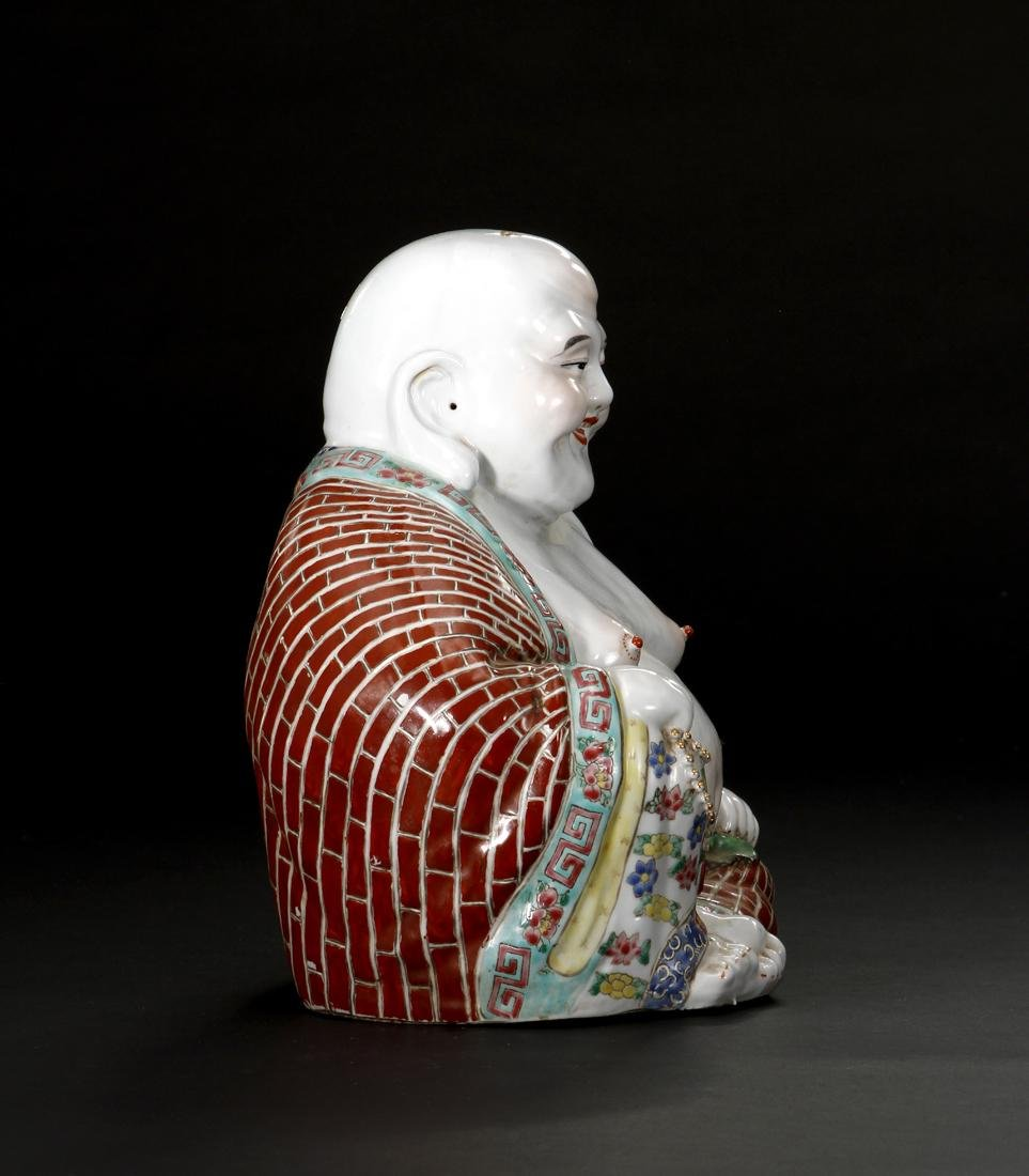 Chinese Famille Rose Figure of Budai - 3