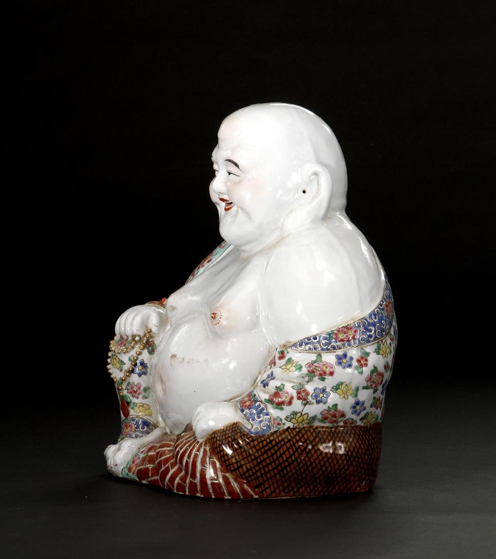 Chinese Famille Rose Figure of Budai - 5