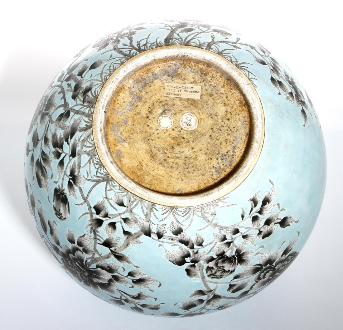 Rare Large Chinese Grisaille Turquoise Ground Bowl - 8