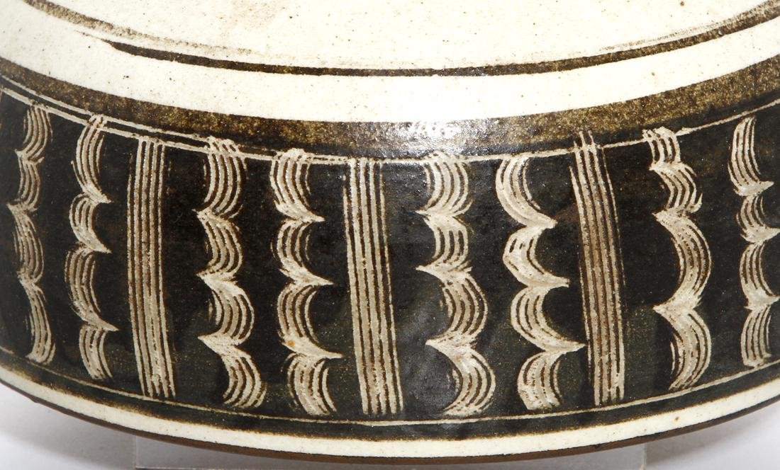 Fine Chinese Cizhou Brown Glazed and Incised Bowl - 7