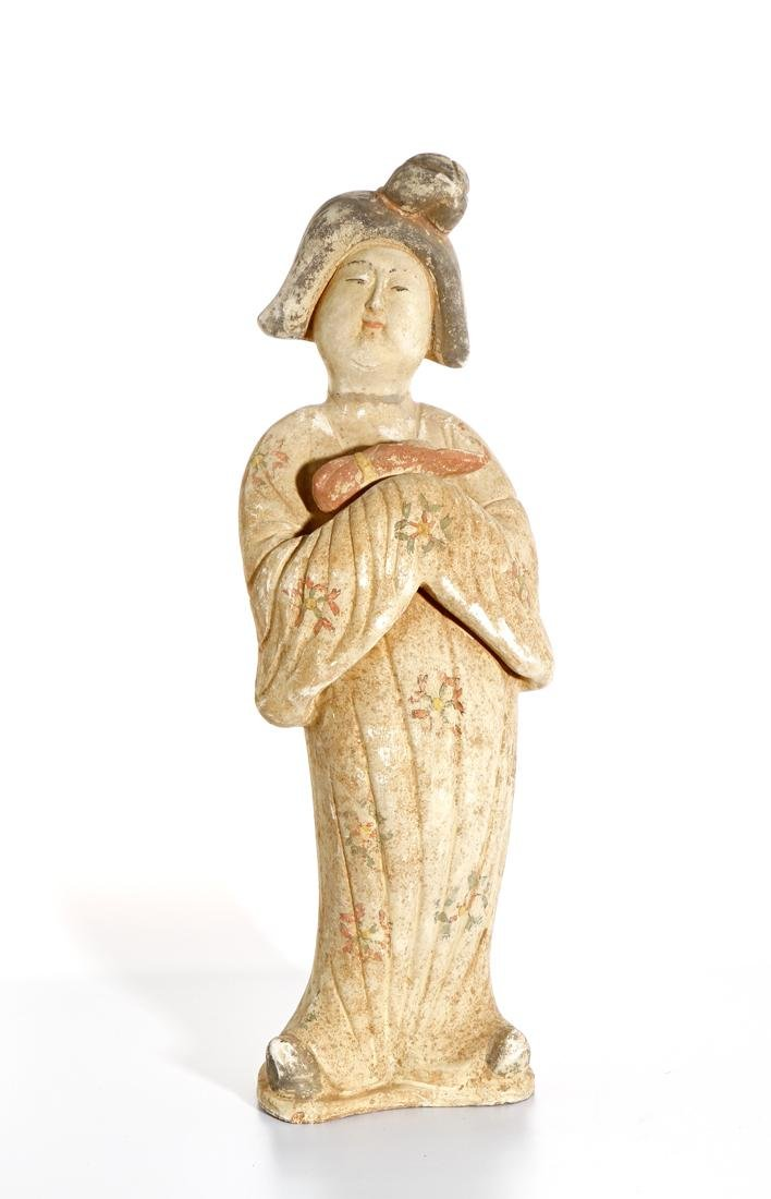 Chinese Painted Pottery Figure of a Lady