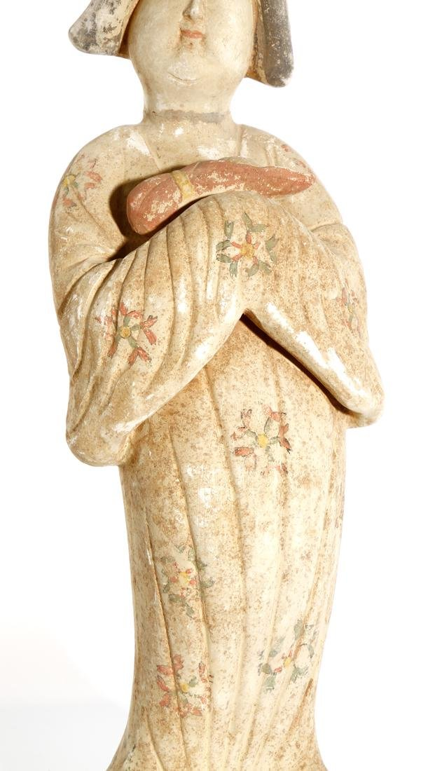 Chinese Painted Pottery Figure of a Lady - 6