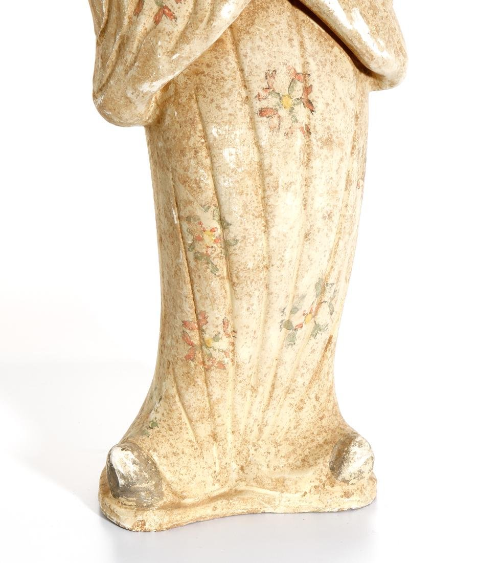 Chinese Painted Pottery Figure of a Lady - 7