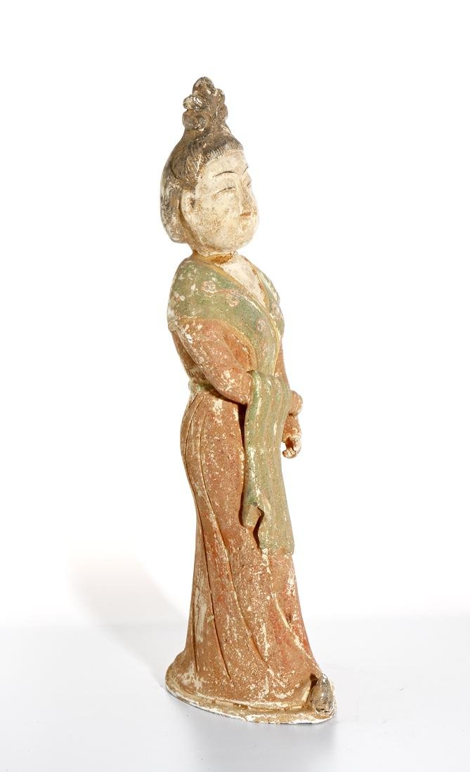 Chinese Painted Pottery Lady - 7