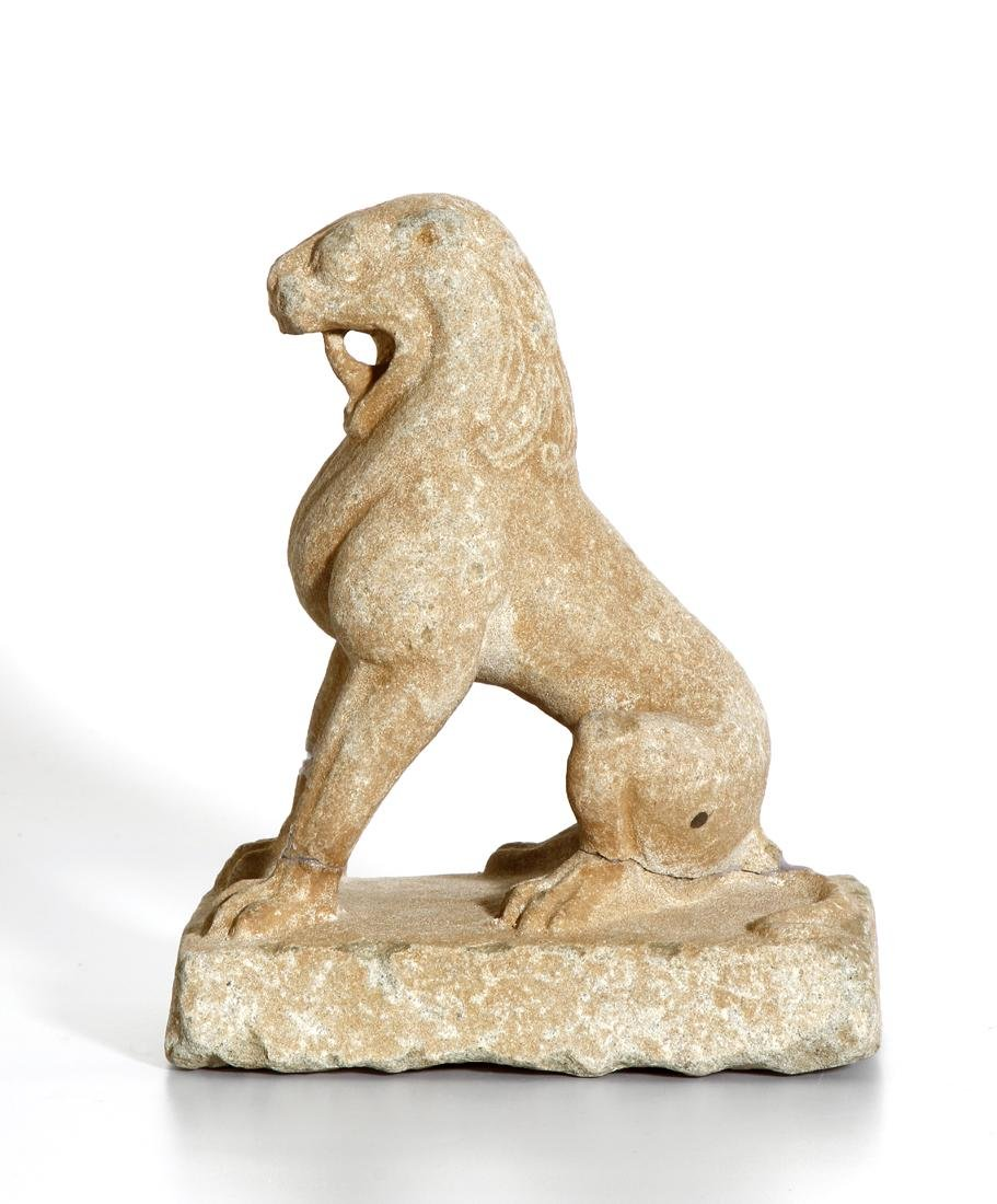Chinese Carved Sandstone Statue of a Lion - 2