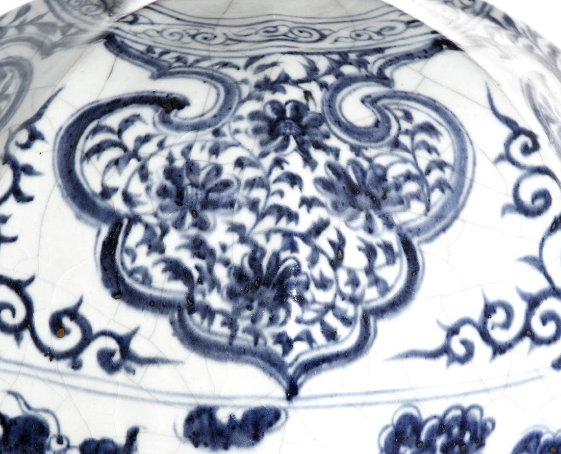 Chinese Large Blue/White 'Dragon' Meiping Vase - 6