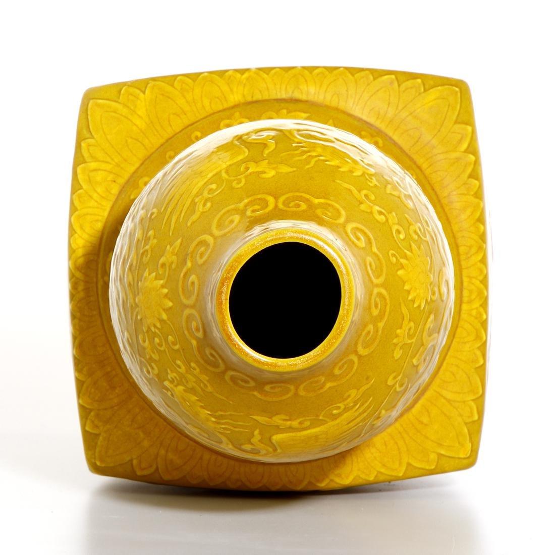 Chinese Yellow Enameled Double-Gourd Vase - 7