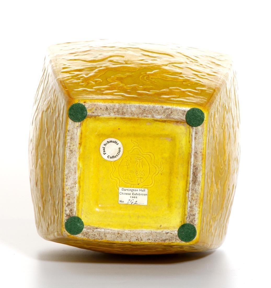 Chinese Yellow Enameled Double-Gourd Vase - 8
