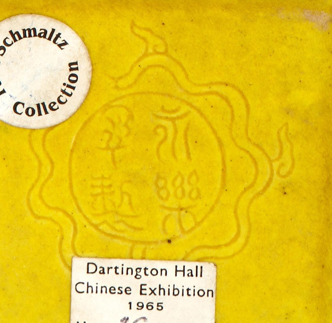 Chinese Yellow Enameled Double-Gourd Vase - 9