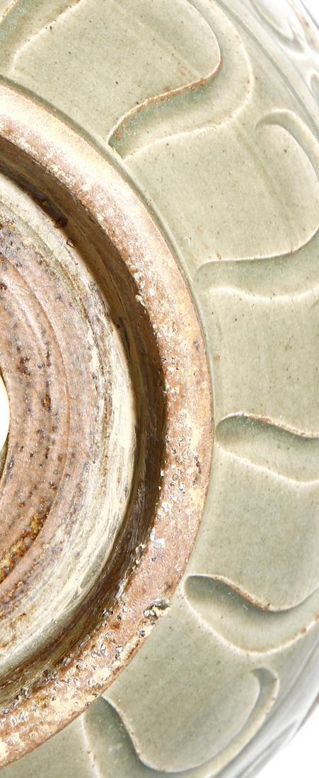 Chinese Yaozhou Carved Garlic-Mouth Vase - 7