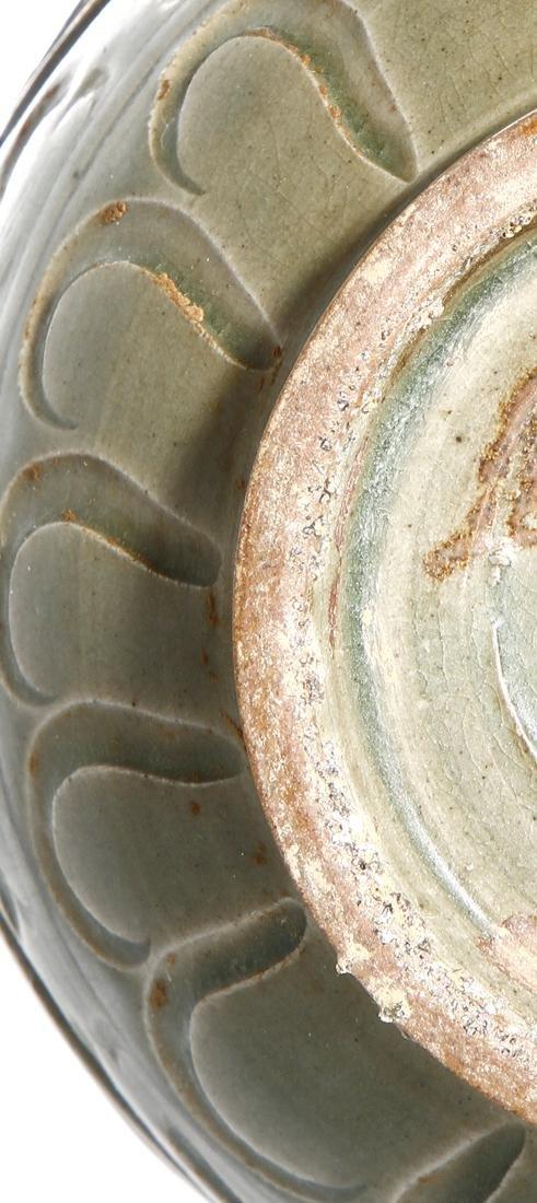Chinese Yaozhou Carved Garlic-Mouth Vase - 8