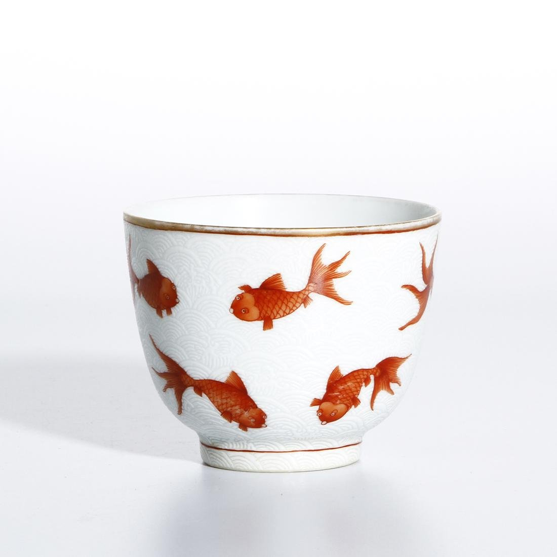 Chinese Iron Red 'Fish' Cup