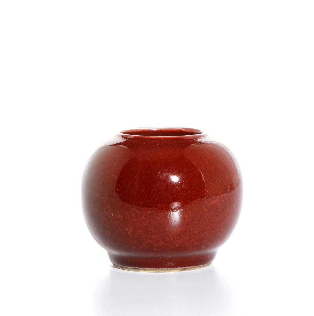 Chinese Copper Red Glazed Jar