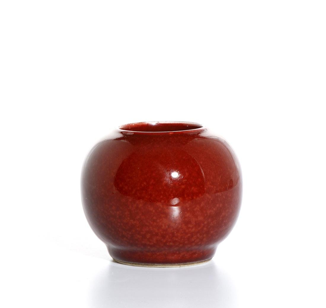 Chinese Copper Red Glazed Jar - 2