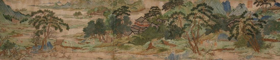 Chinese Blue and Green Landscape Handscroll - 4
