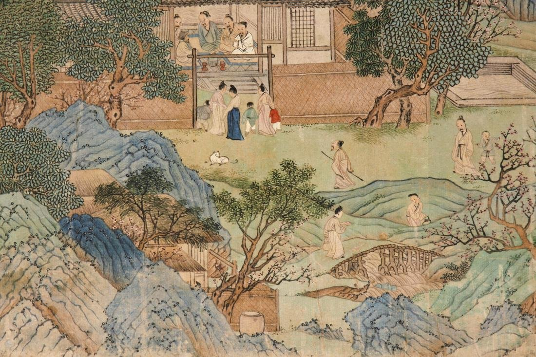 Chinese Blue and Green Landscape Handscroll - 9
