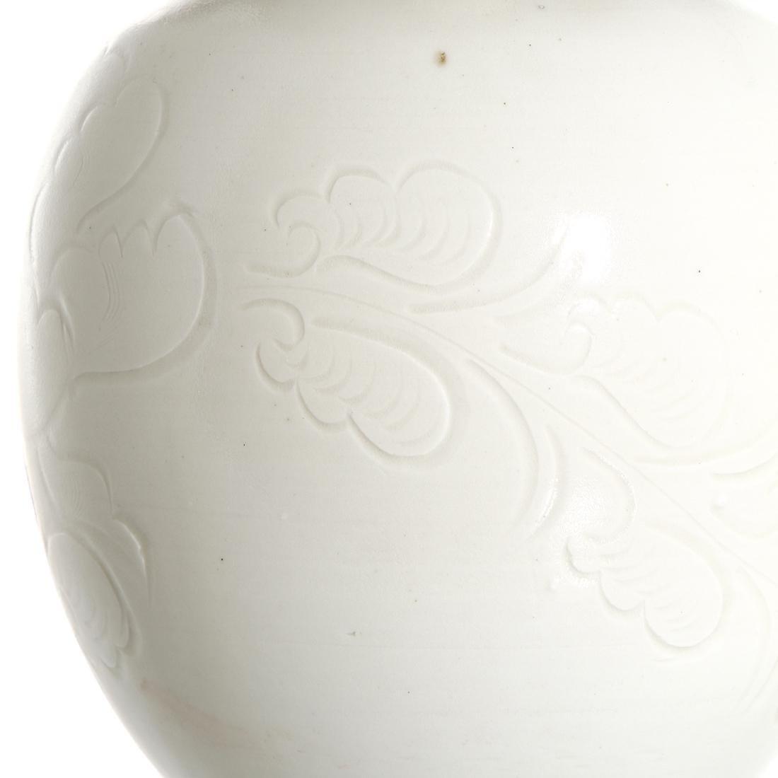 Chinese Ding Ware Long-Neck Bottle Vase - 5