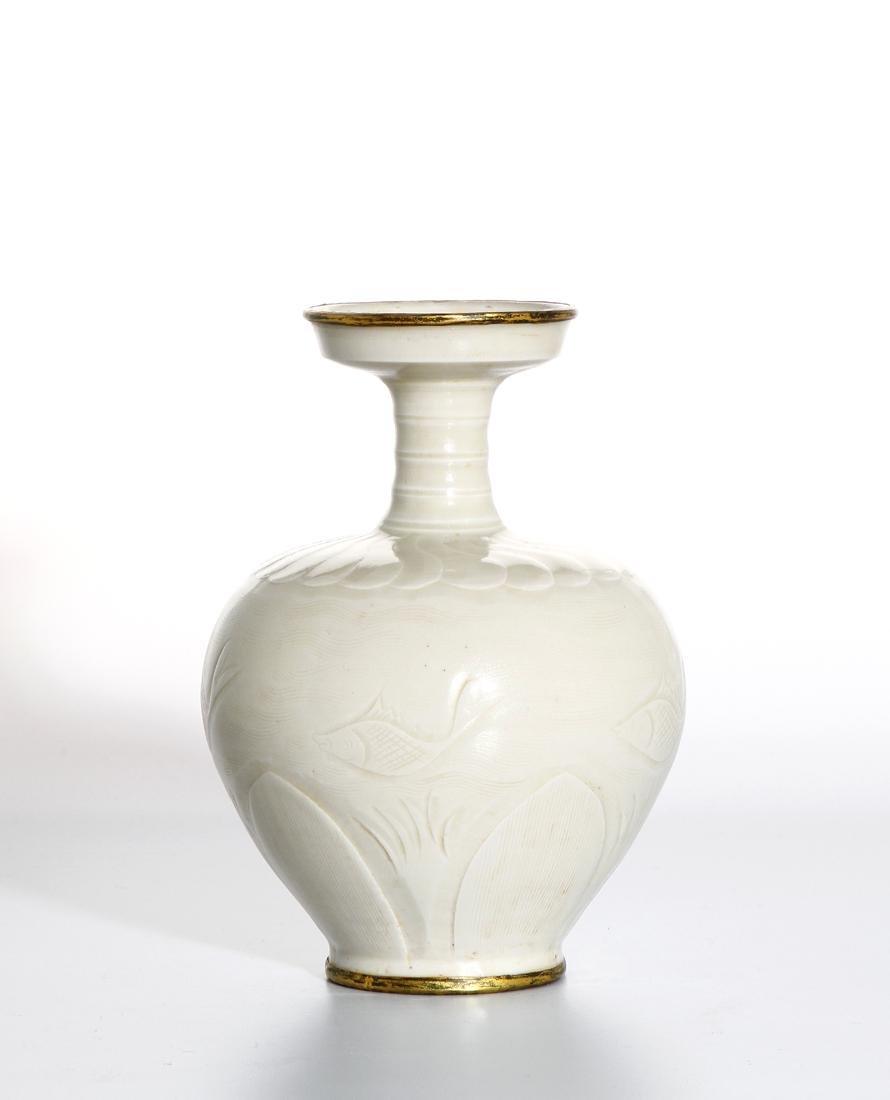 Chinese Ding Ware Carved Baluster Vase