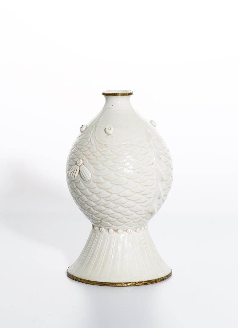 RareChinese Ding Ware Fish Form Bottle Vase