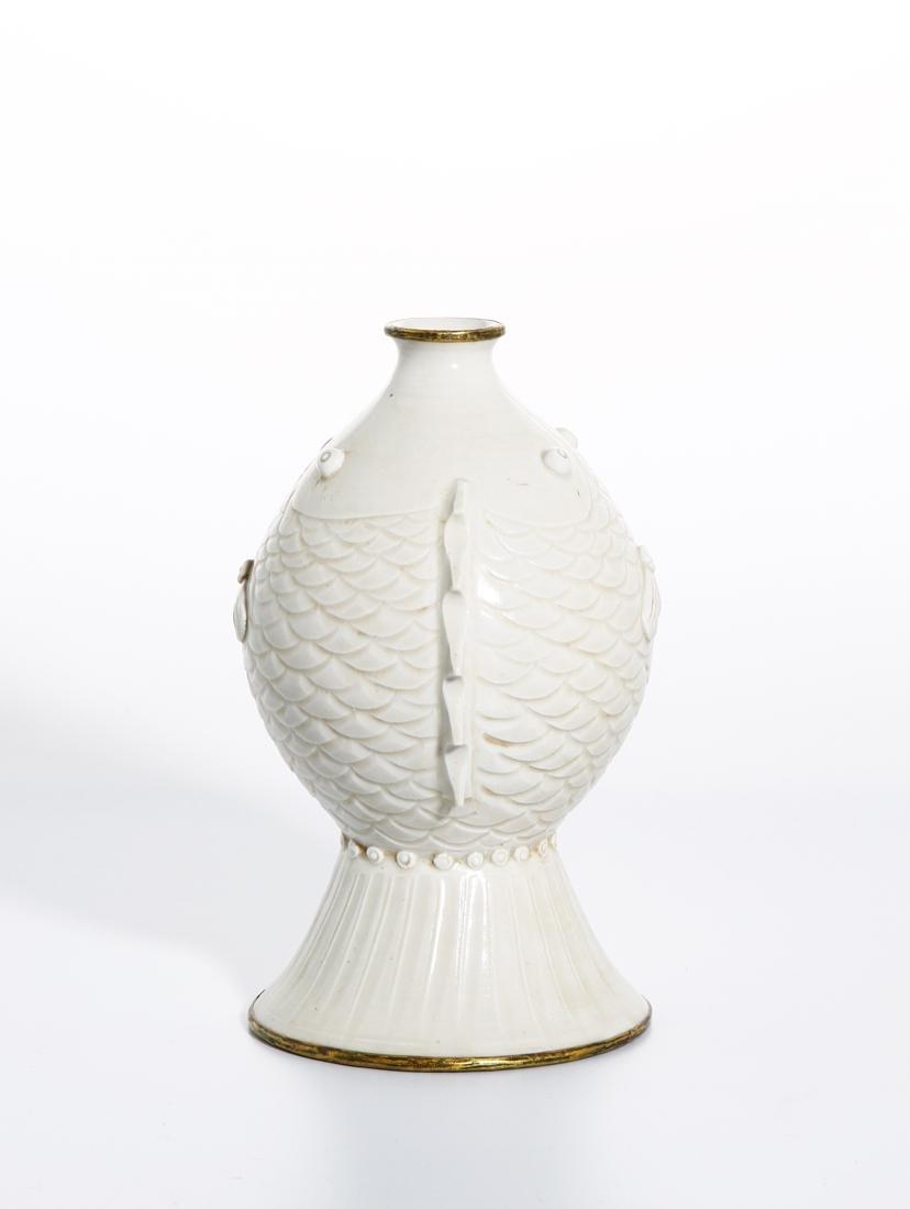 RareChinese Ding Ware Fish Form Bottle Vase - 2