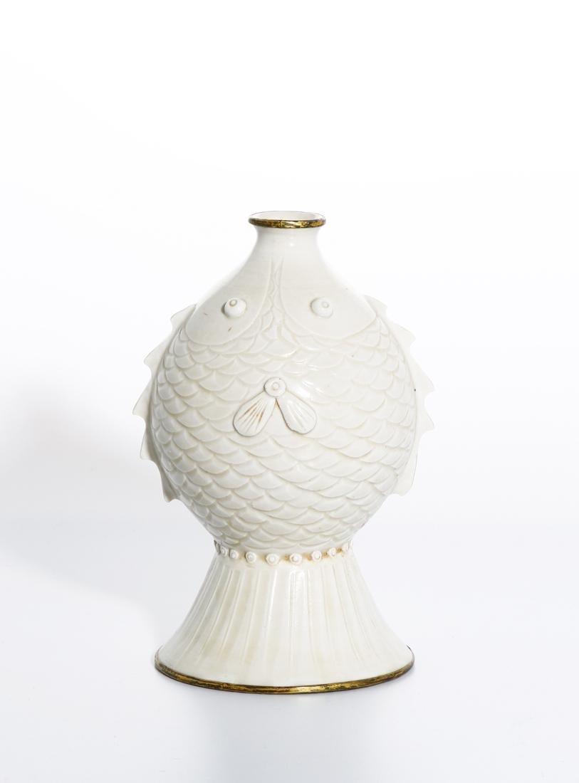 RareChinese Ding Ware Fish Form Bottle Vase - 3