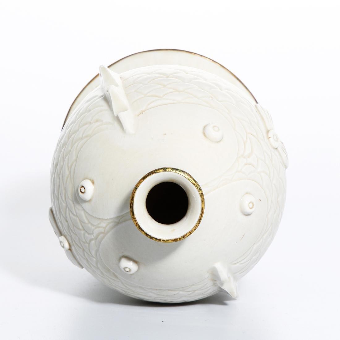 RareChinese Ding Ware Fish Form Bottle Vase - 6