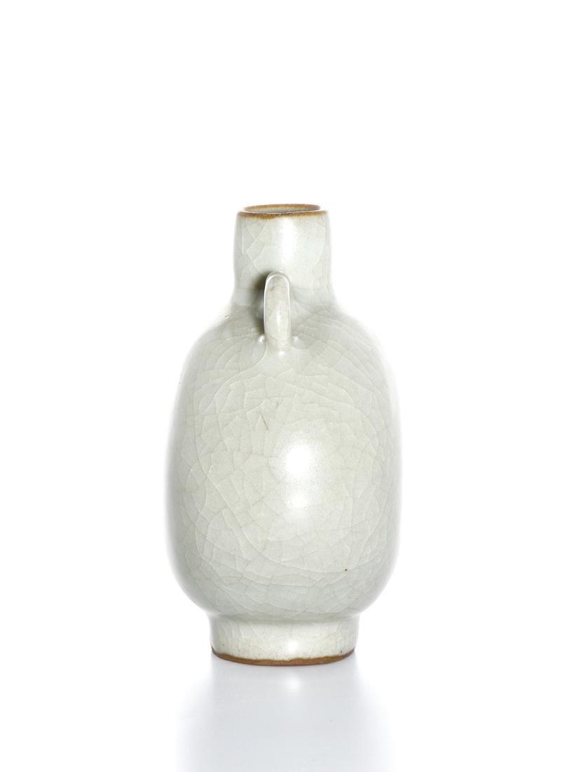 Rare Chinese Lungchuan Celadon Guan-Type Moonflask - 2