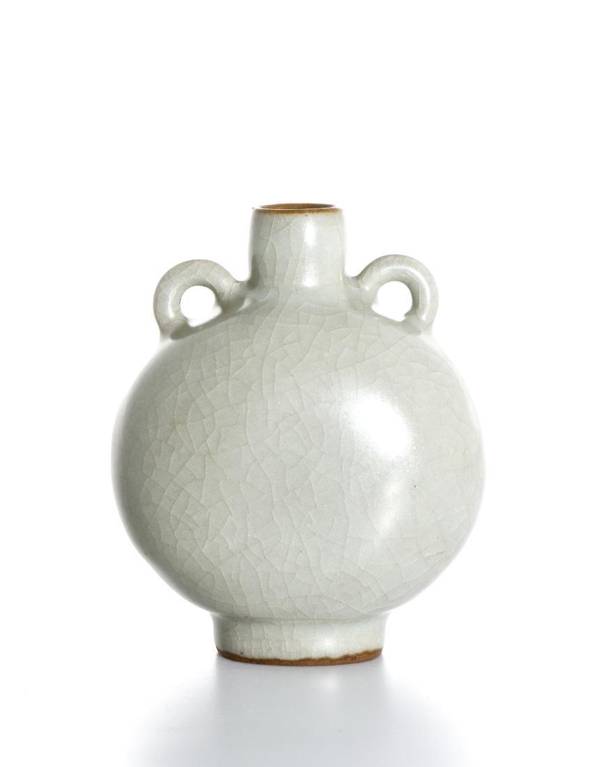 Rare Chinese Lungchuan Celadon Guan-Type Moonflask - 3