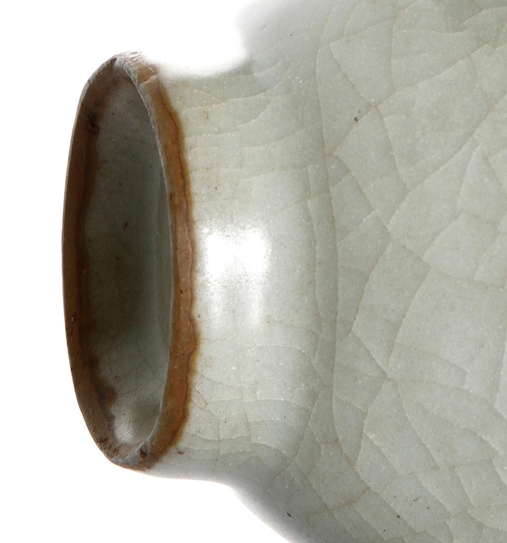 Rare Chinese Lungchuan Celadon Guan-Type Moonflask - 8