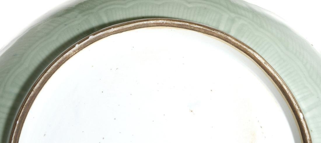 Chinese Celadon Glazed Lobed Charger - 5