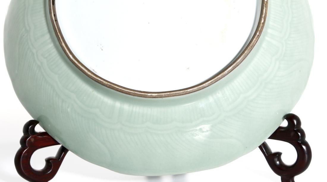 Chinese Celadon Glazed Lobed Charger - 6