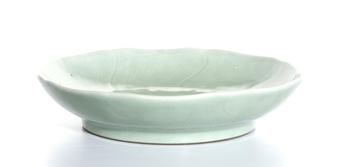 Chinese Celadon Glazed Lobed Charger - 7
